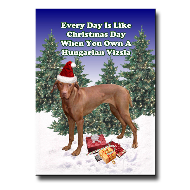 Hungarian Vizsla Christmas Holidays Fridge Magnet