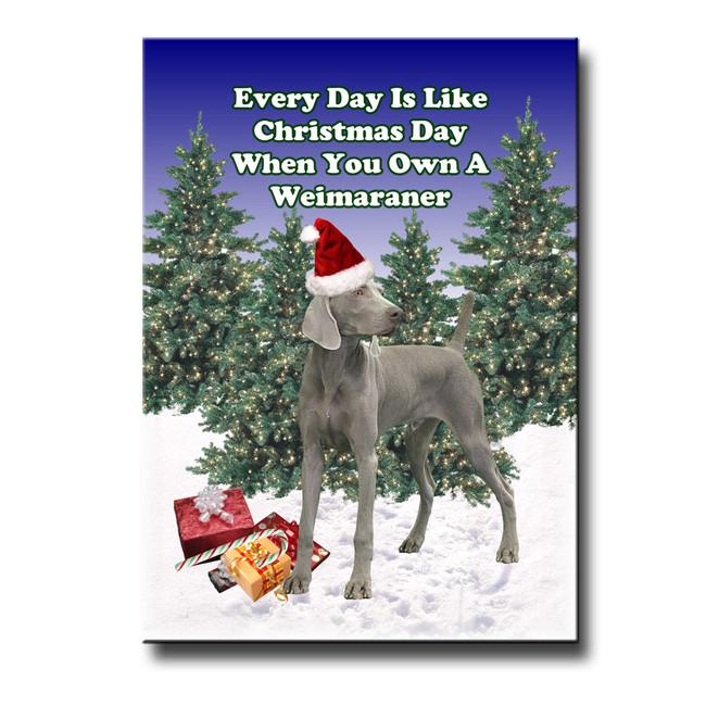 Weimaraner Christmas Holidays Fridge Magnet
