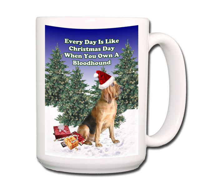 Bloodhound Christmas Holidays Coffee Tea Mug 15oz