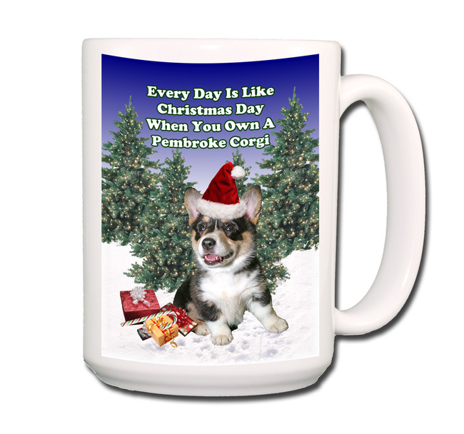 Pembroke Corgi Christmas Holidays Coffee Tea Mug 15oz No 2