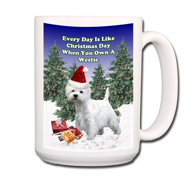 West Highland White Terrier Christmas Holidays Coffee Tea Mug 15oz