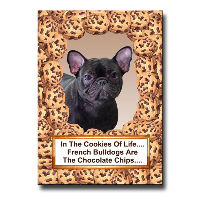 French Bulldog Cookie Choc Chip Fridge Magnet No 4
