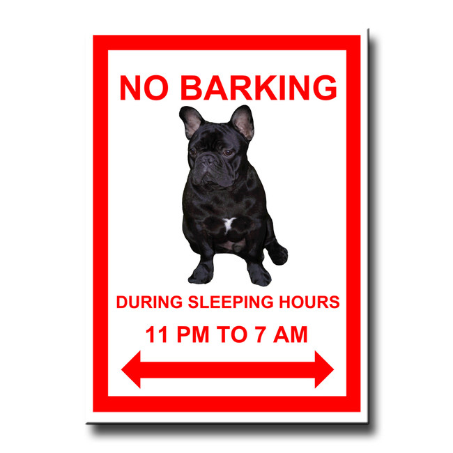 French Bulldog No Barking Fridge Magnet No 2