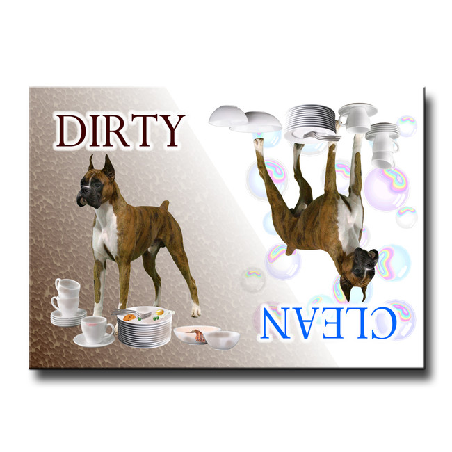 Boxer Clean Dirty Dishwasher Magnet