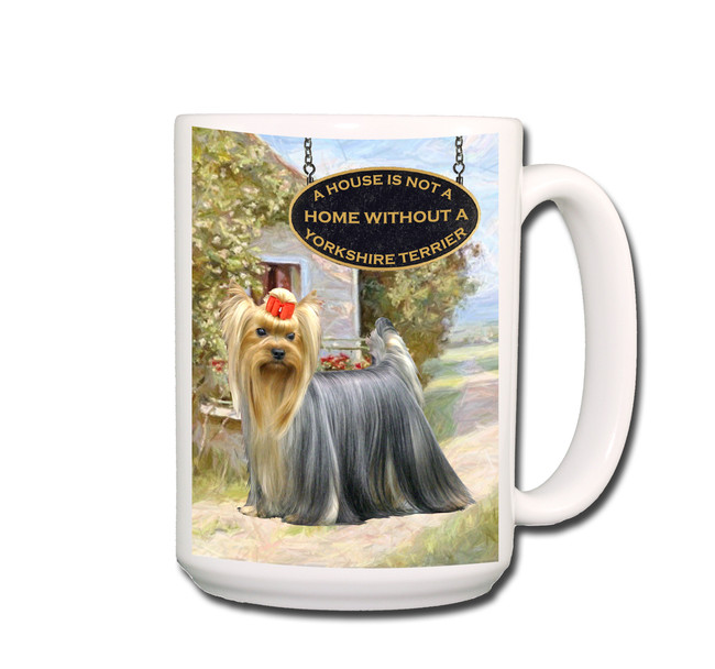 Make your mornings easier to face with these delightful coffee mugs. Each mug holds 15 ounces of your favorite beverage. This high resolution design is printed on both the front and back of each mug (ideal for both left and right handed drinkers). Designed, manufactured and ships from the USA.
