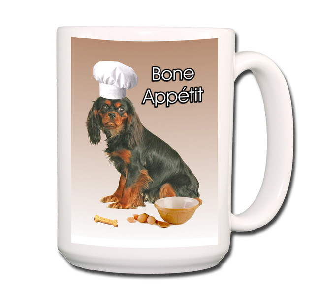 Cavalier King Charles Bone Appetit Chef Coffee Tea Mug 15oz No 3