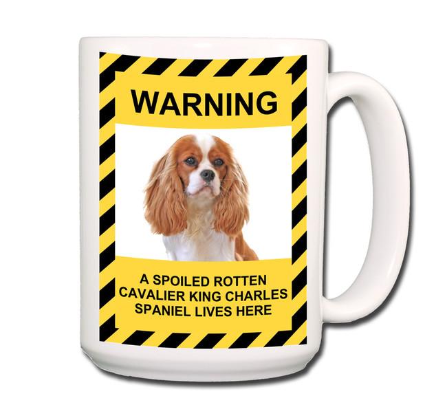 Cavalier King Charles Spoiled Rotten Coffee Tea Mug 15oz No 2