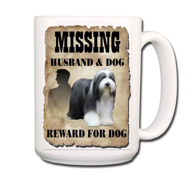 Bearded Collie Husband Missing Reward Coffee Tea Mug 15oz