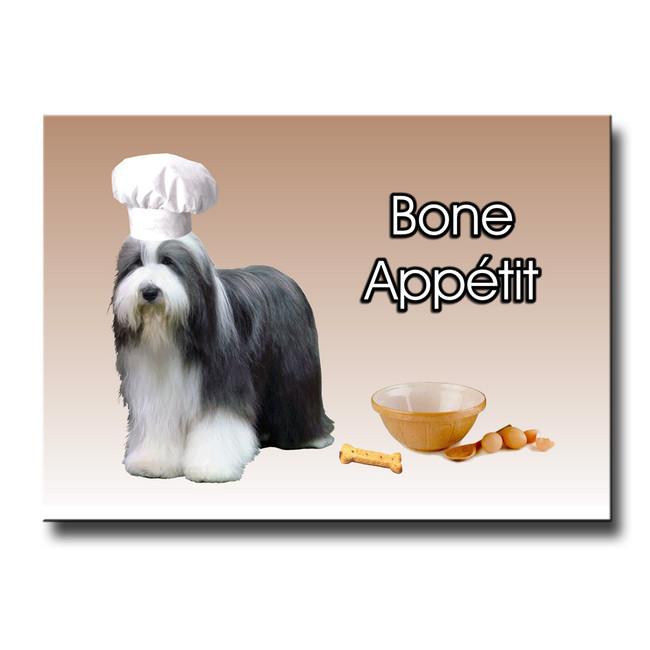Bearded Collie Bone Appetit Chef Fridge Magnet