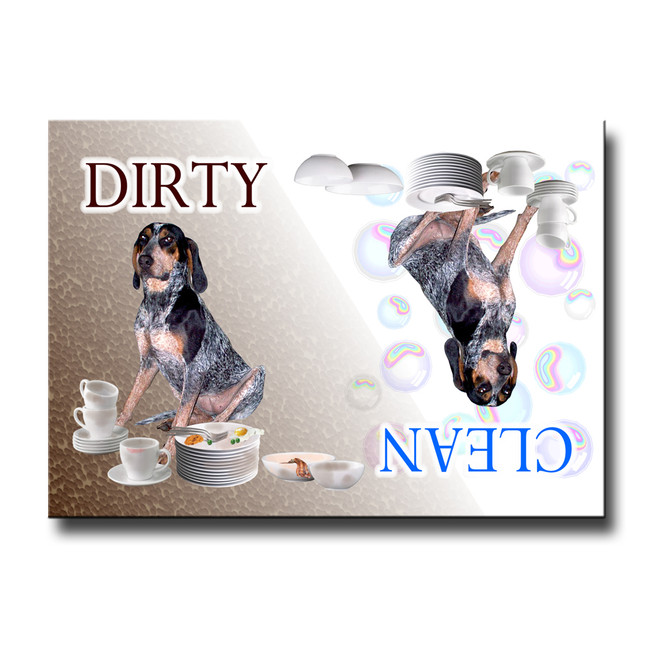 Bluetick Coonhound Clean Dirty Dishwasher Magnet No 1