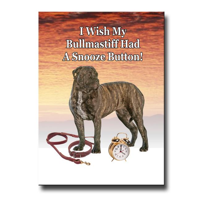 Bullmastiff Snooze Alarm Fridge Magnet No 2