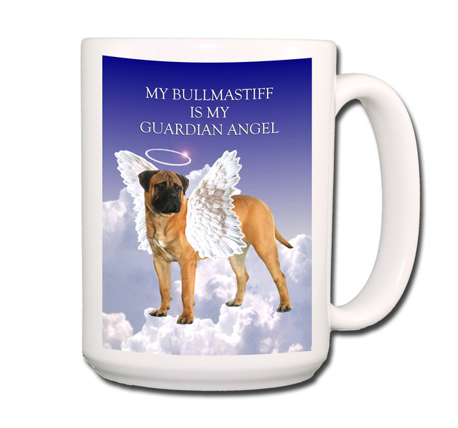 Bullmastiff Guardian Angel Coffee Tea Mug 15oz No 1