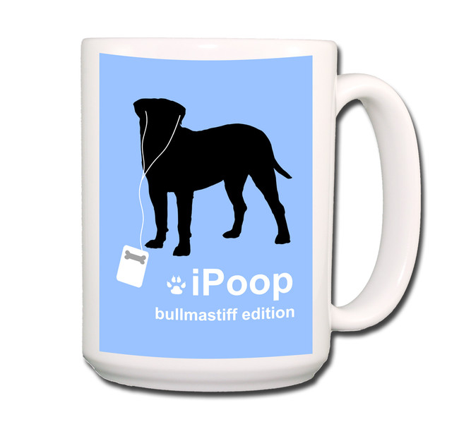 Bullmastiff iPoop Coffee Tea Mug 15oz