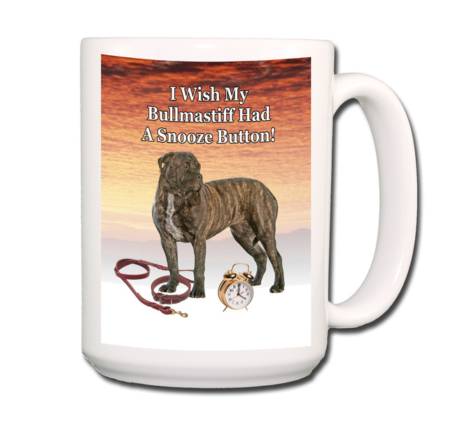 Bullmastiff Snooze Alarm Coffee Tea Mug 15oz No 2