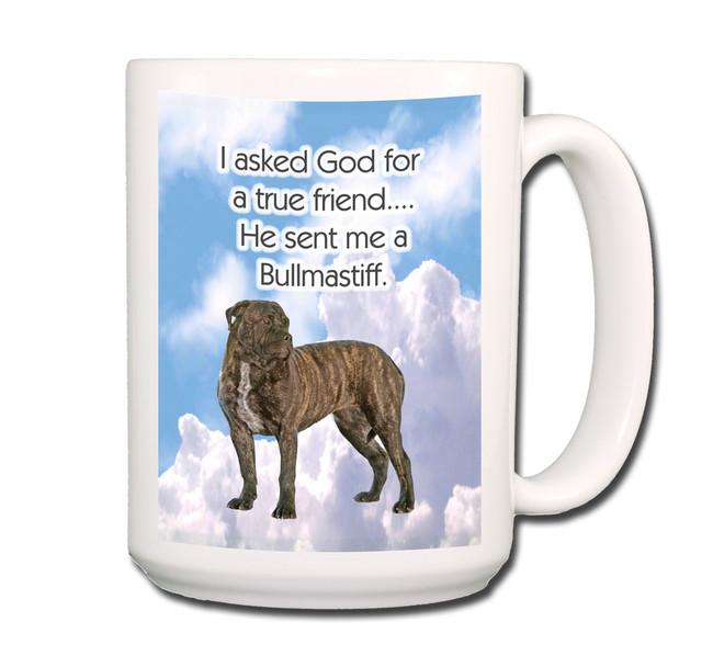 Bullmastiff True Friend Coffee Tea Mug 15oz No 2