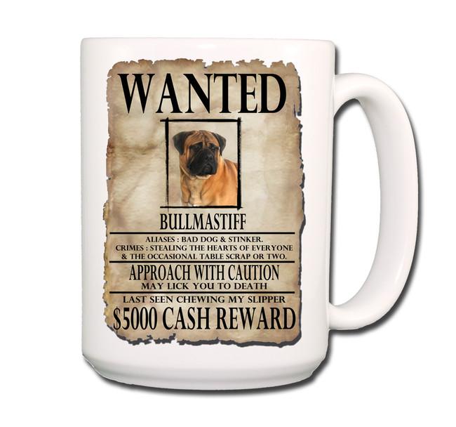 Bullmastiff Wanted Poster Coffee Tea Mug 15oz No 1
