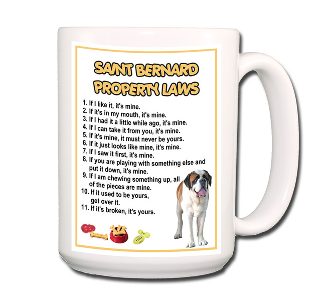 Saint Bernard Property Laws Coffee Tea Mug 15oz