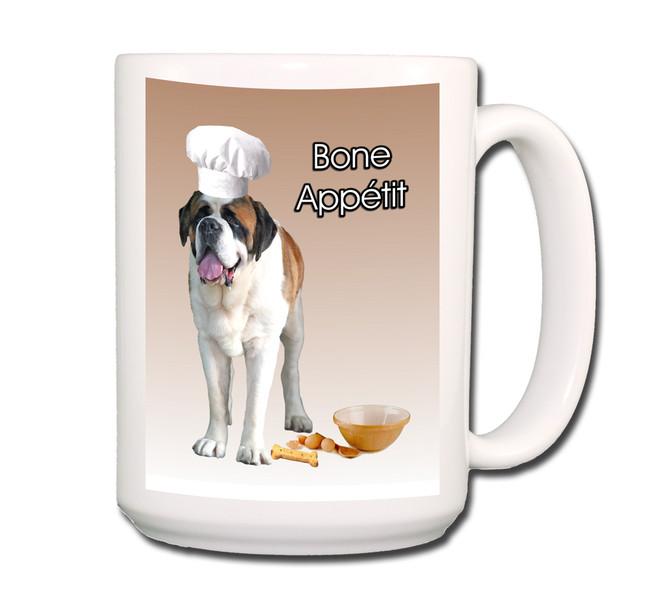 Saint Bernard Bone Appetit Chef Coffee Tea Mug 15oz