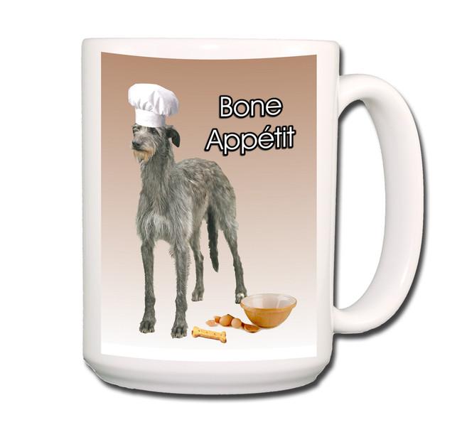 Scottish Deerhound Bone Appetit Chef Coffee Tea Mug 15oz
