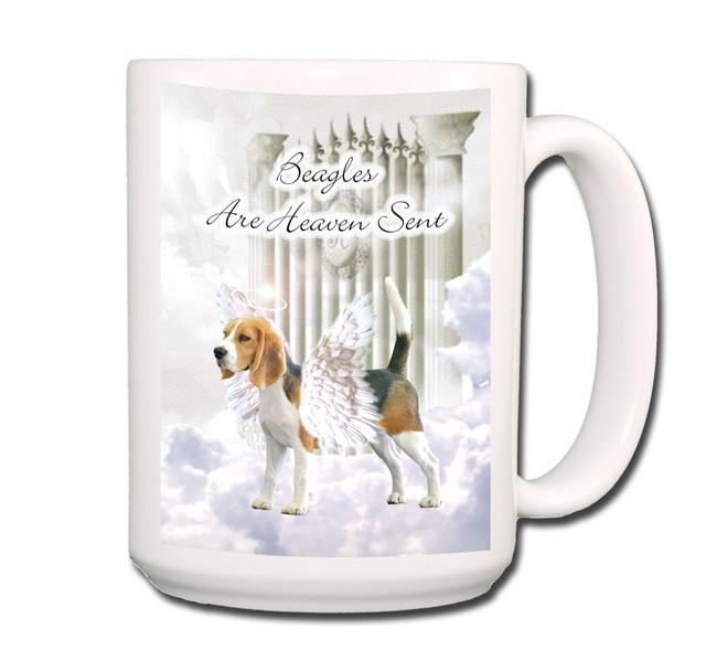 Beagle Heaven Sent Coffee Tea Mug 15oz