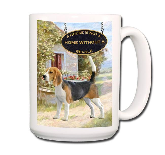 Beagle a House is Not a Home Coffee Tea Mug 15oz