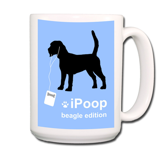 Beagle iPoop Coffee Tea Mug 15oz