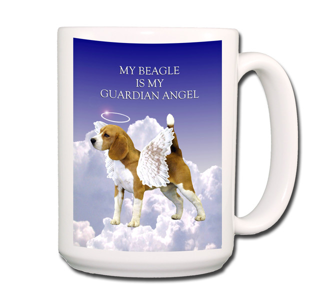 Beagle Guardian Angel Coffee Tea Mug 15oz