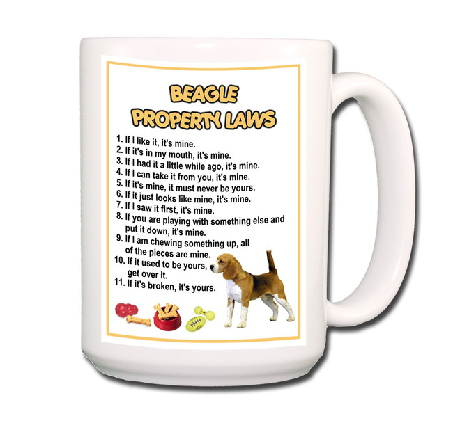 Beagle Property Laws Coffee Tea Mug 15oz