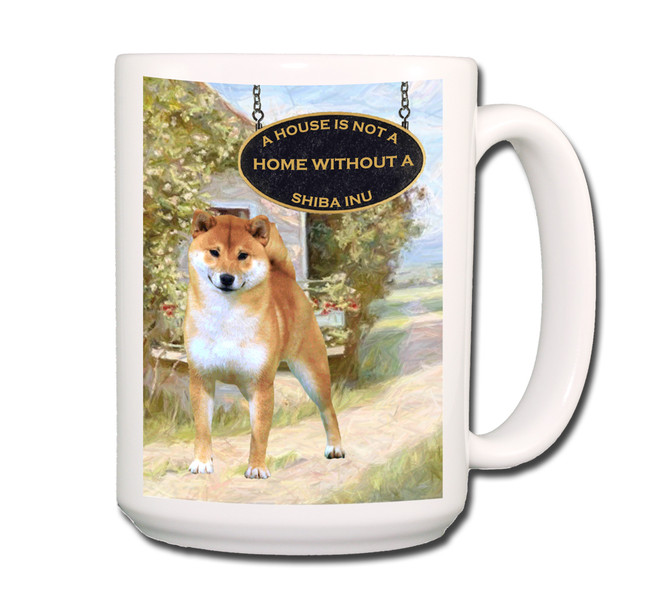 Shiba Inu a House is Not a Home Coffee Tea Mug 15oz No 1
