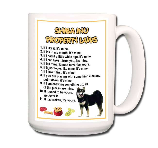 Shiba Inu Property Laws Coffee Tea Mug 15oz No 2