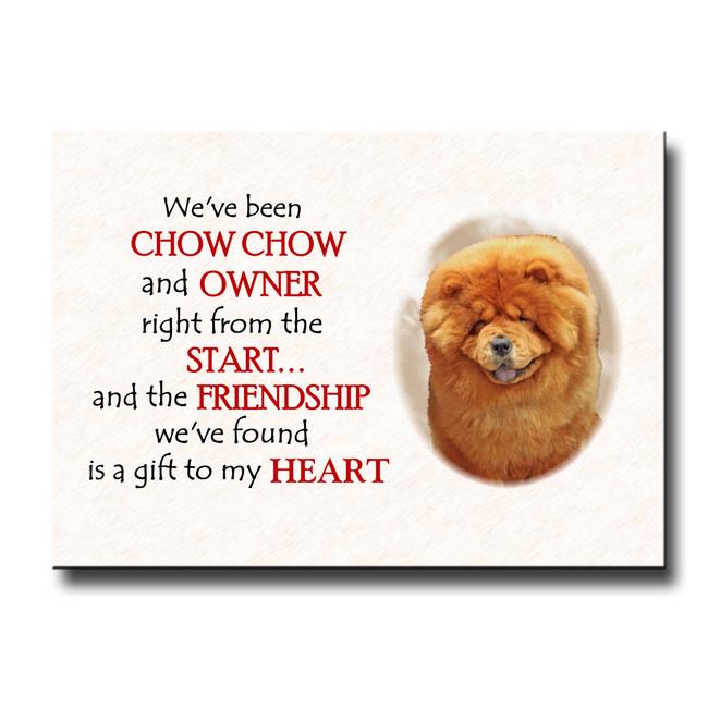 Chow Chow Friendship Fridge Magnet