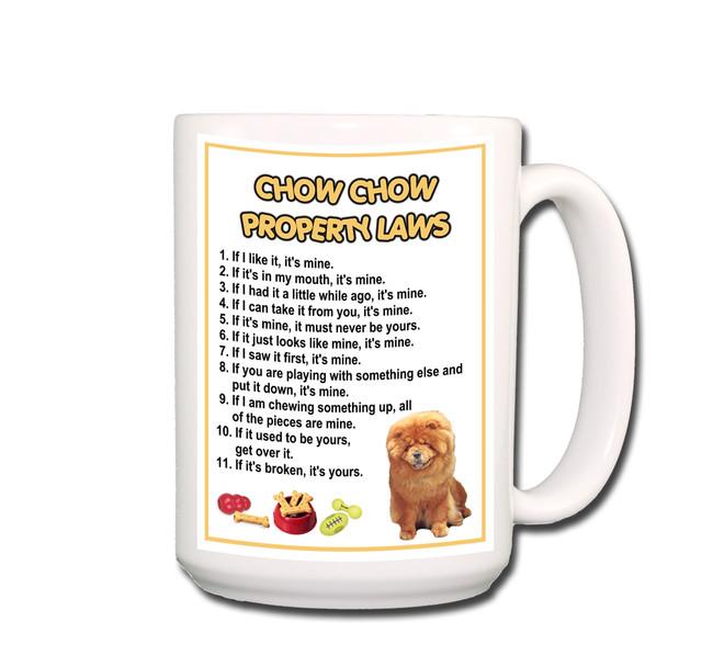 Chow Chow Property Laws Coffee Tea Mug 15oz