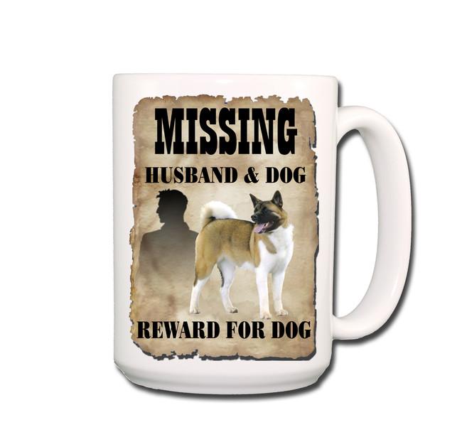 Akita Husband Missing Reward Coffee Tea Mug 15oz