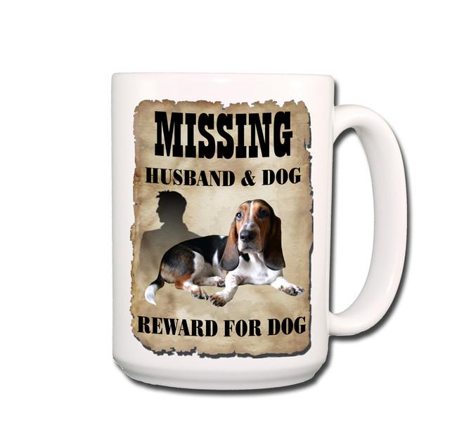 Basset Hound Husband Missing Reward Coffee Tea Mug 15oz No 2