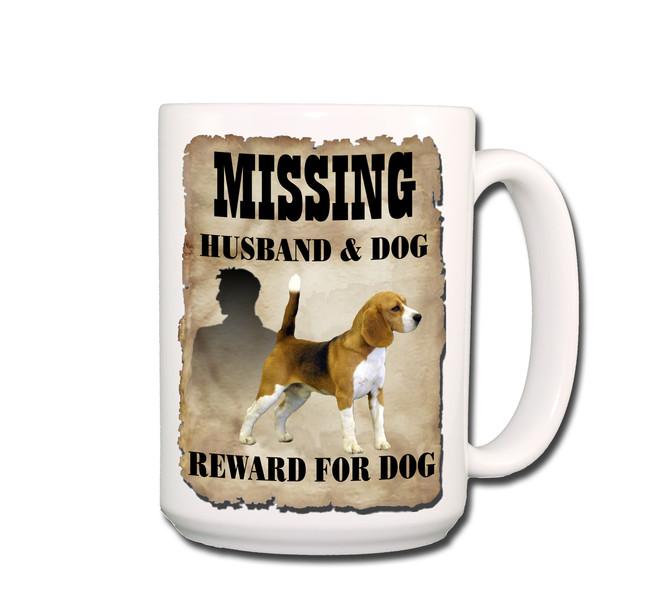 Beagle Husband Missing Reward Coffee Tea Mug 15oz