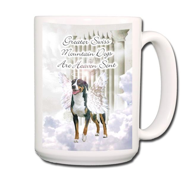 Greater Swiss Mountain Dog Heaven Sent Coffee Tea Mug 15oz