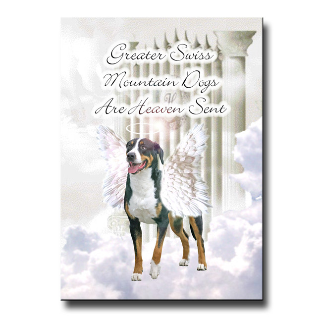 Greater Swiss Mountain Dog Heaven Sent Fridge Magnet