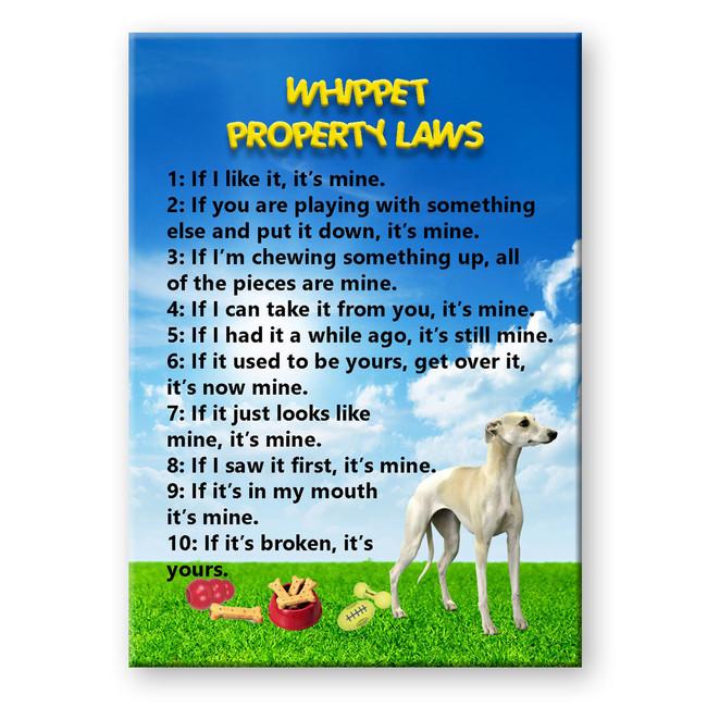 Whippet Property Laws Fridge Magnet