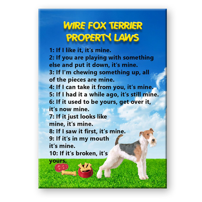 Wire Fox Terrier Property Laws Fridge Magnet