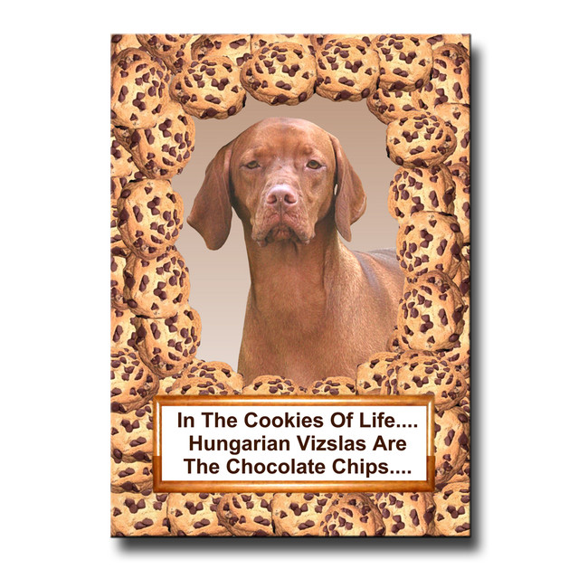 Hungarian Vizsla Chocolate Chip Cookie Fridge Magnet