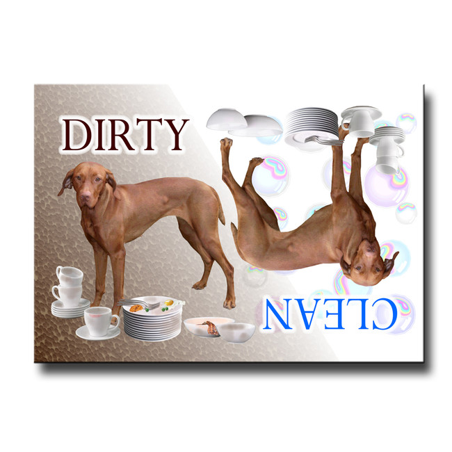 Hungarian Vizsla Clean Dirty Dishwasher Magnet