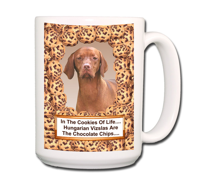 Hungarian Vizsla Cookie Chocolate Chip Coffee Tea Mug 15oz