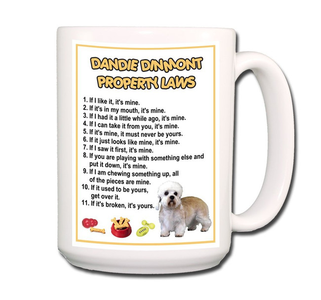 Dandie Dinmont Property Laws Coffee Tea Mug 15oz