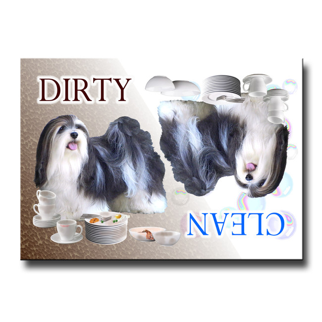 Havanese Clean Dirty Dishwasher Magnet No 2