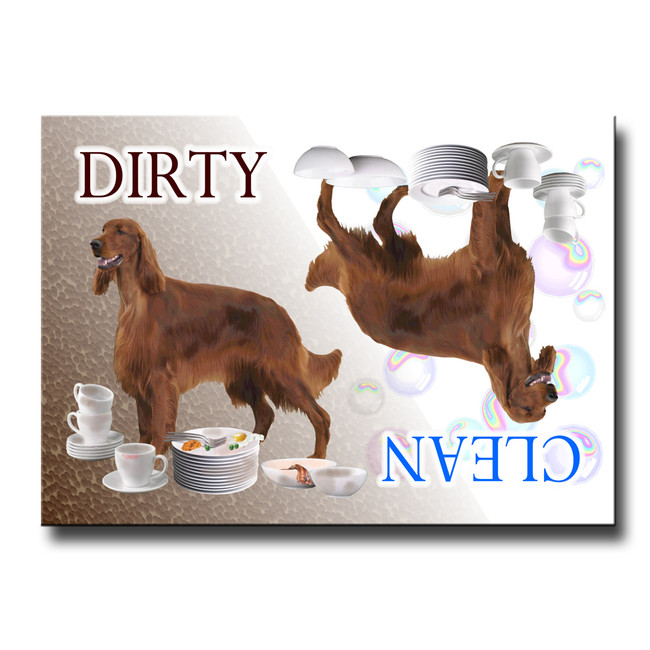 Irish Setter Clean Dirty Dishwasher Magnet
