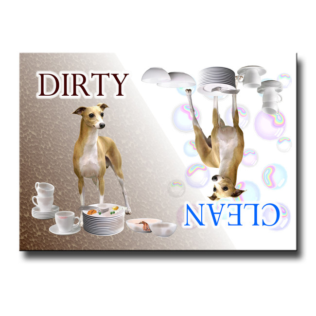 Italian Greyhound Clean Dirty Dishwasher Magnet
