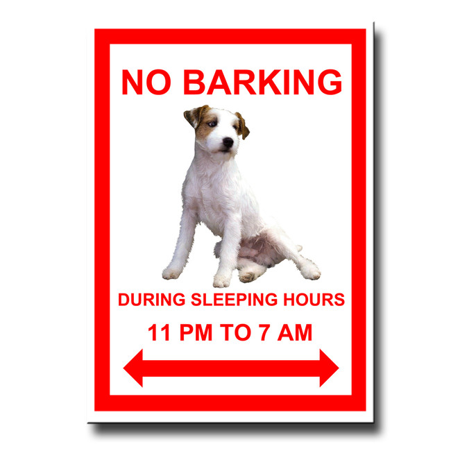 Jack Russell Terrier No Barking Fridge Magnet