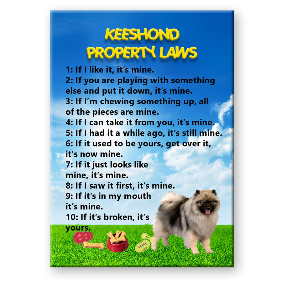 Keeshond Property Laws Fridge Magnet