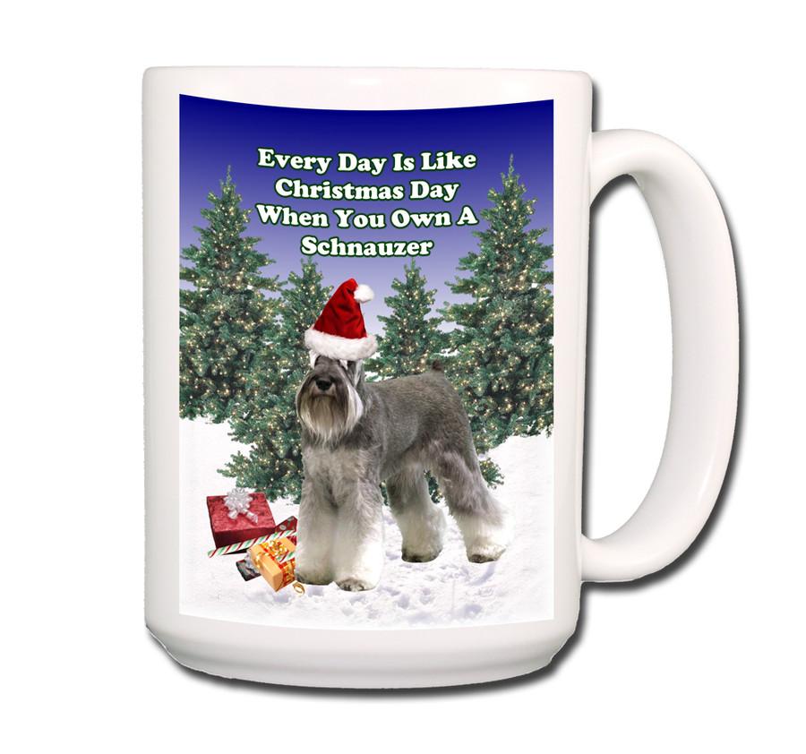 Schnauzer Christmas Holidays Coffee Tea Mug 15oz