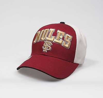 "Florida State Seminoles Adjustable ""One Size Fits Most"" Hat - Khaki/Red"